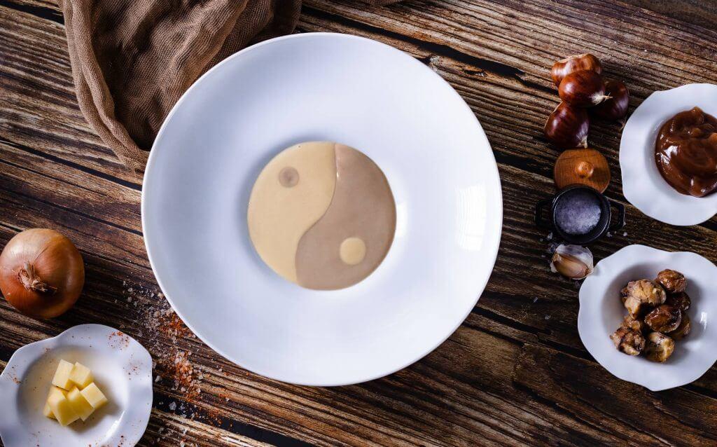 Σούπα Βελουτέ, πατάτα και κάστανο